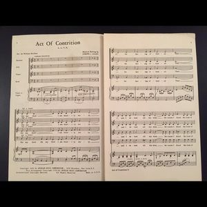 Sheet Music - Act of Contrition 🖤